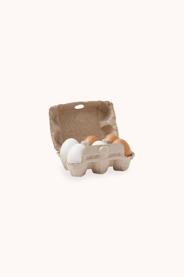 Eggs wooden - 6 pieces BISTRO