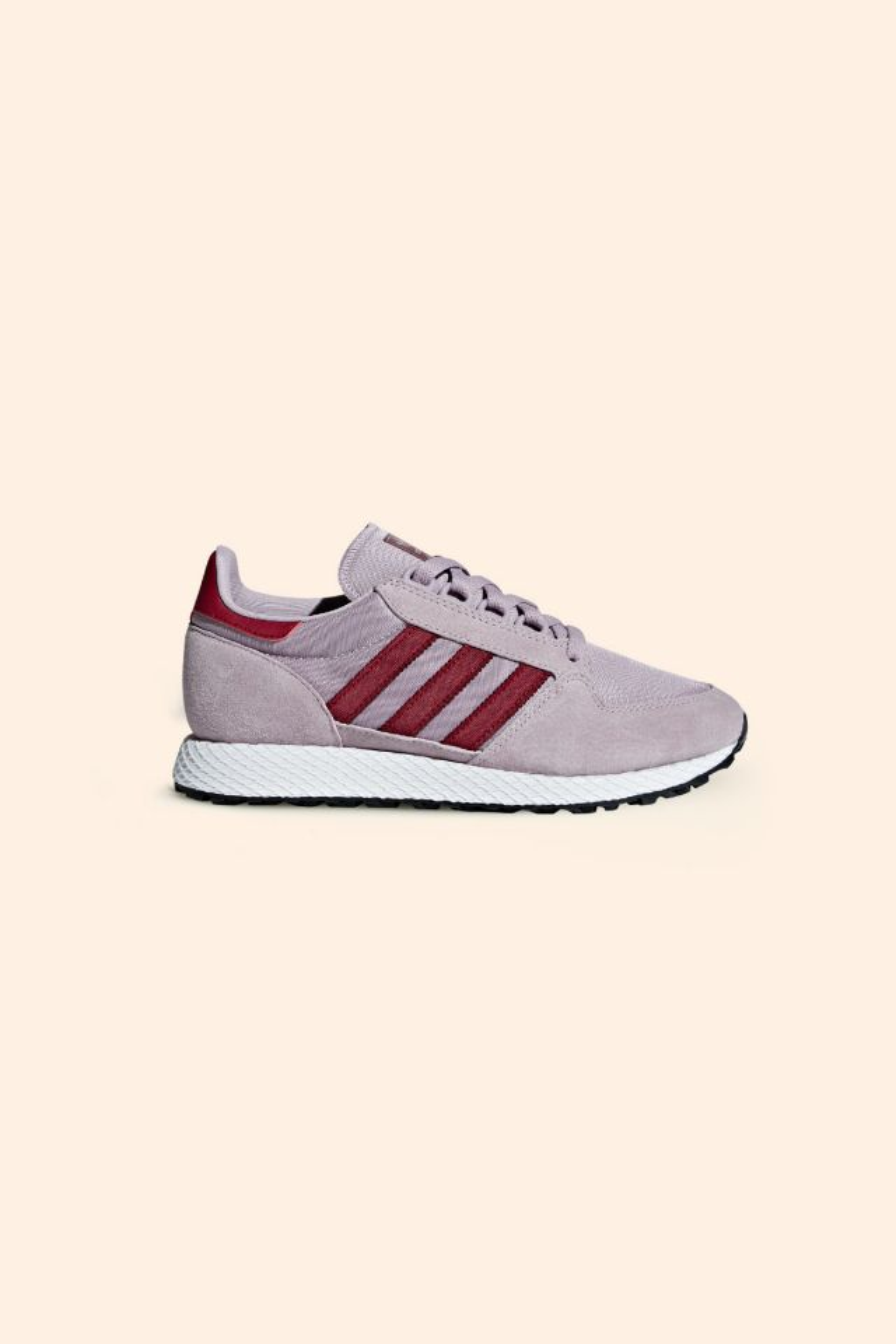 Adidas FOREST GROVE W soft vision/collegiate burgundy/chalk white