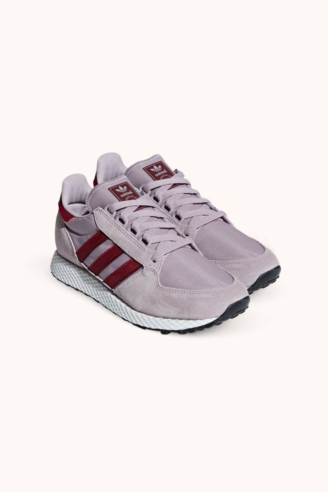 Adidas FOREST GROVE W soft vision/collegiate burgundy/chalk white