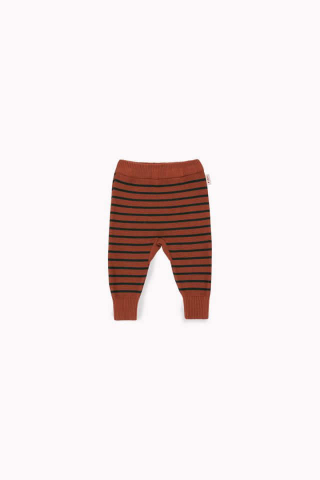 SMALL STRIPES PANT dark brown/bottle green