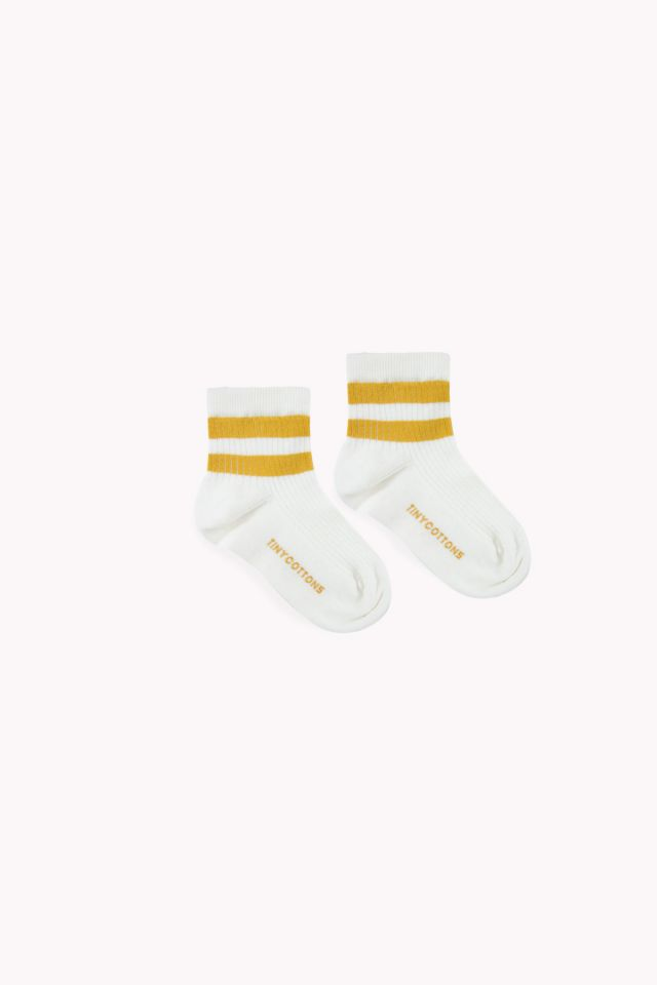 STRIPES QUARTER RIB SOCKS off-white/mustard