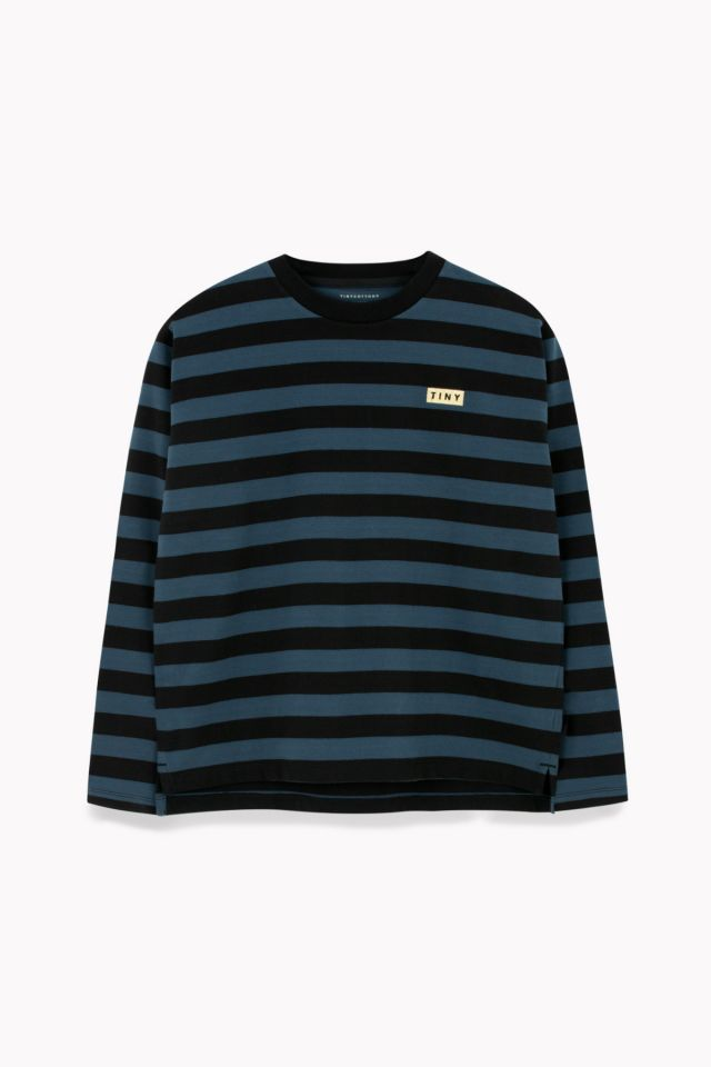 WOMAN STRIPES LS RELAXED TEE