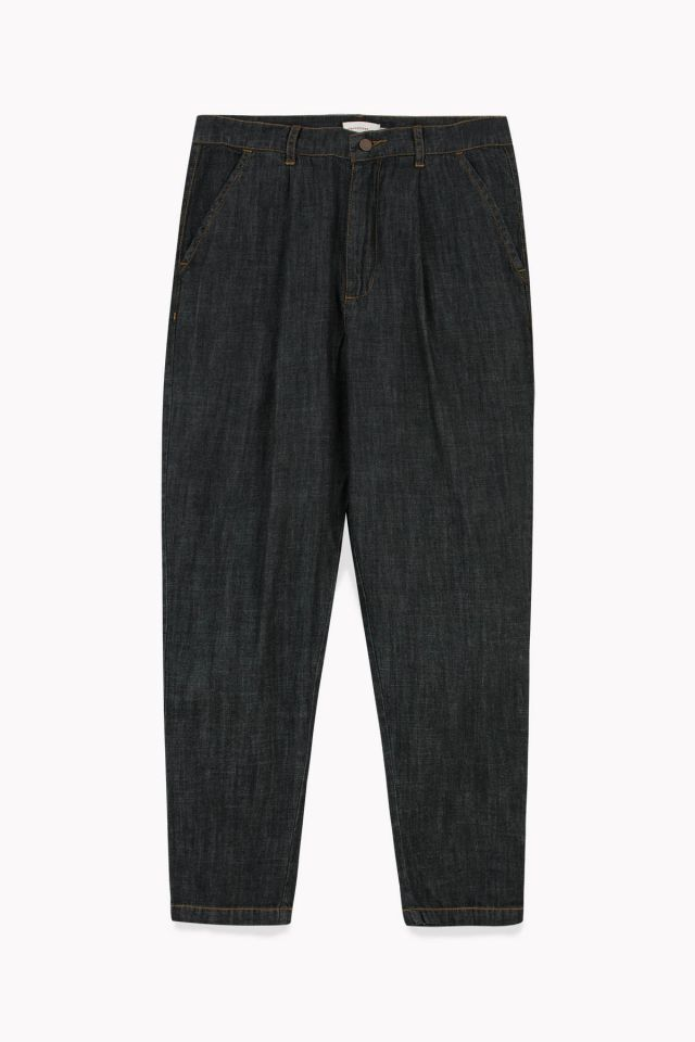 WOMAN DENIM PLEAT PANT