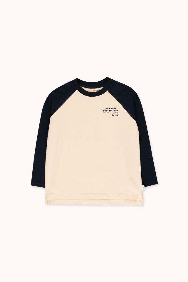 """PRETZEL RIDE"" COLOR BLOCK TEE"