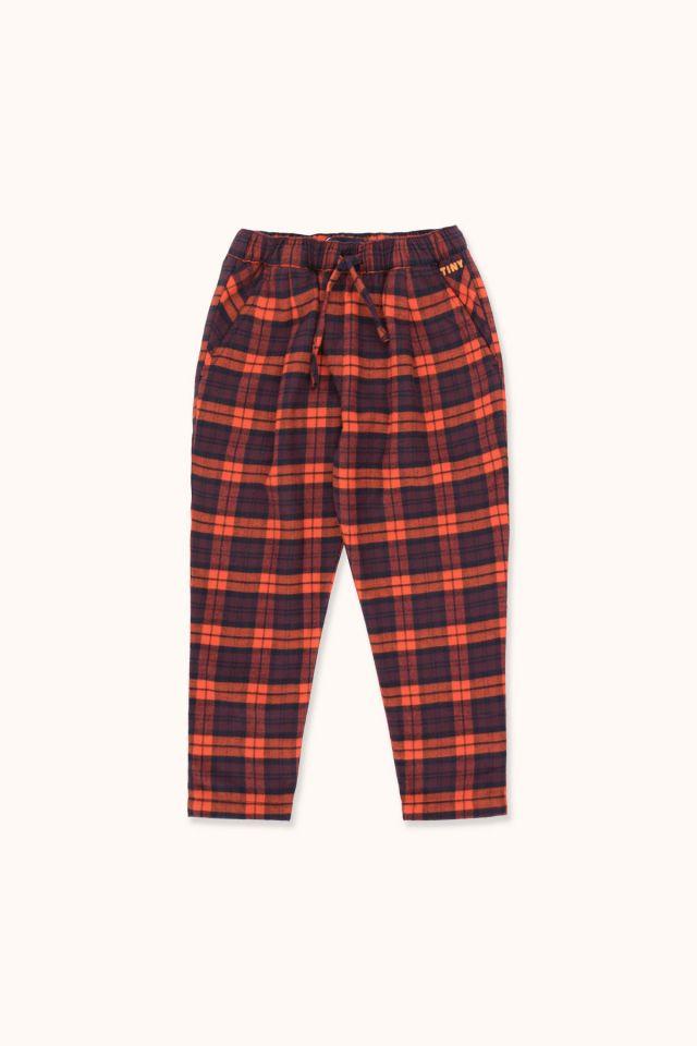 CHECK PLEATED PANT