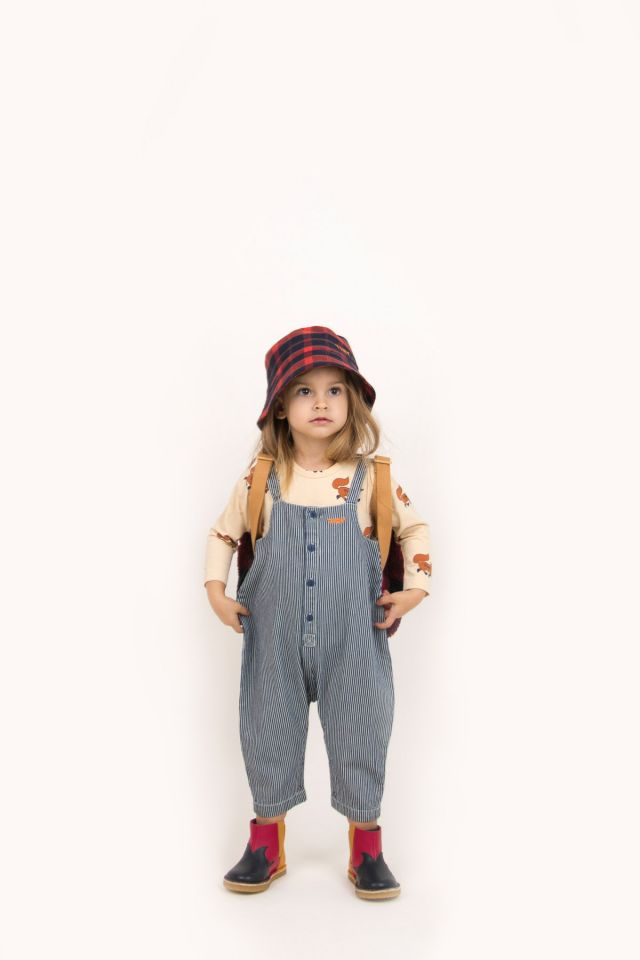 STRIPES DENIM DUNGAREE
