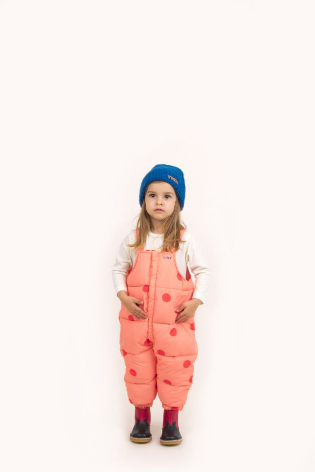 """BIG DOTS"" PADDED DUNGAREE"
