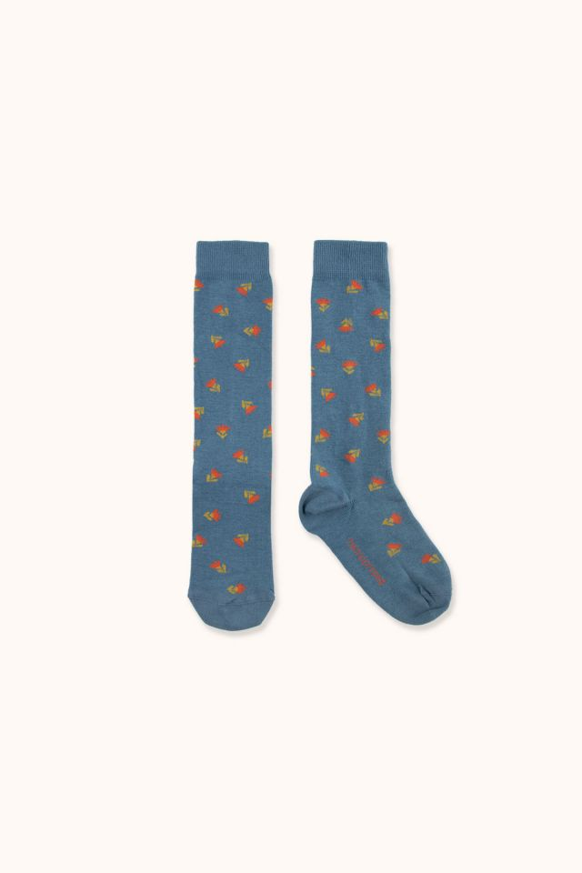 """TINY FLOWERS"" HIGH SOCKS"
