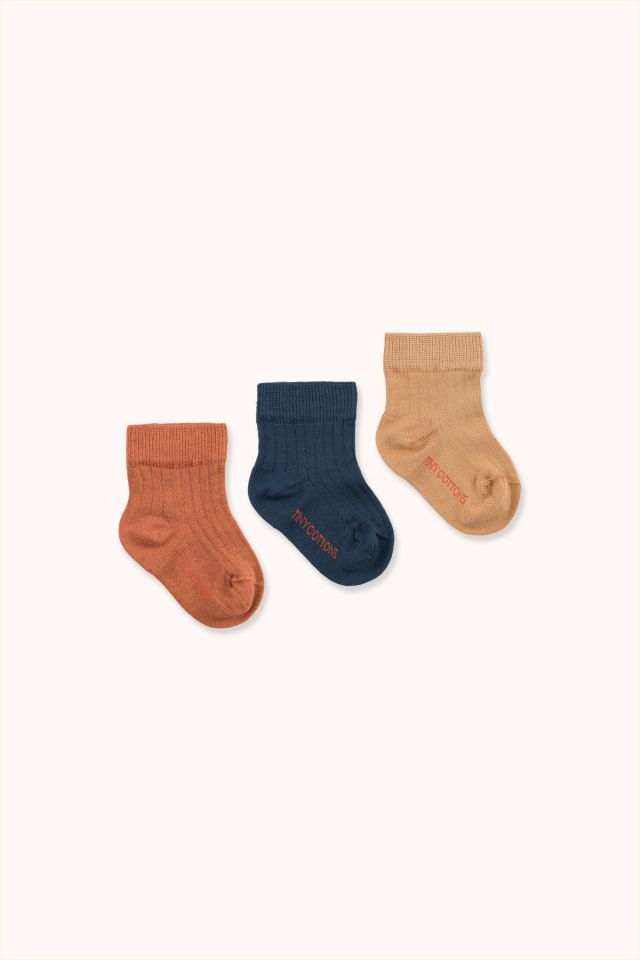 PACK OF 3 MEDIUM RIB SOCKS