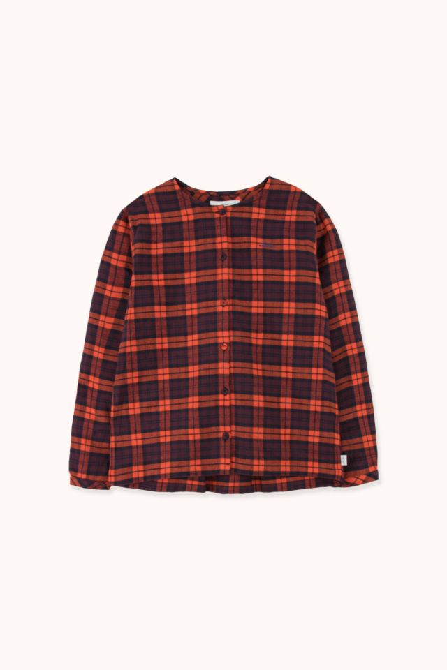WOMAN CHECK FLANNEL BLOUSE