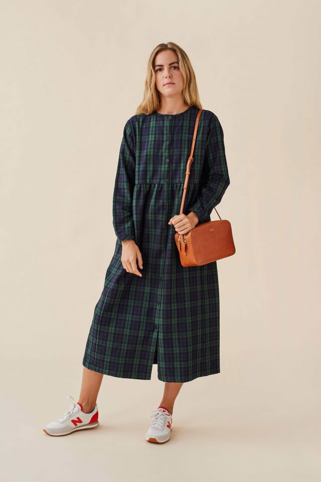 WOMAN CHECK FLANNEL DRESS
