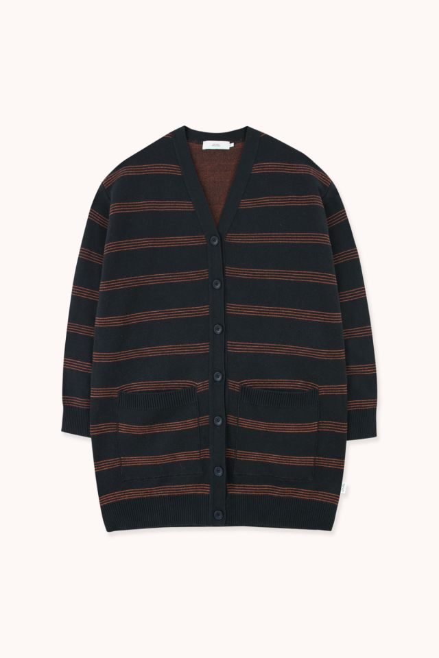 WOMAN LONG STRIPES CARDIGAN