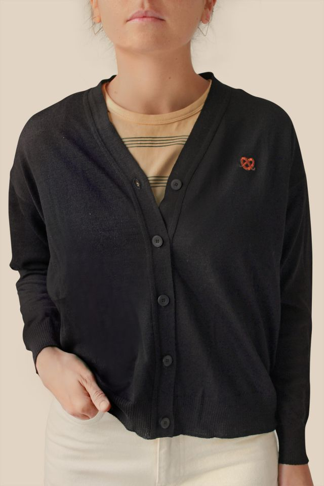 "WOMAN PURE NEW WOOL ""PRETZEL"" CARDIGAN"