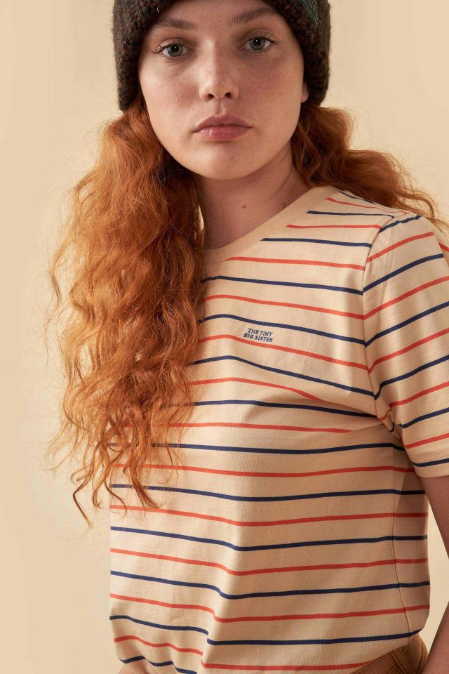 WOMAN DOUBLE STRIPES RELAXED TEE