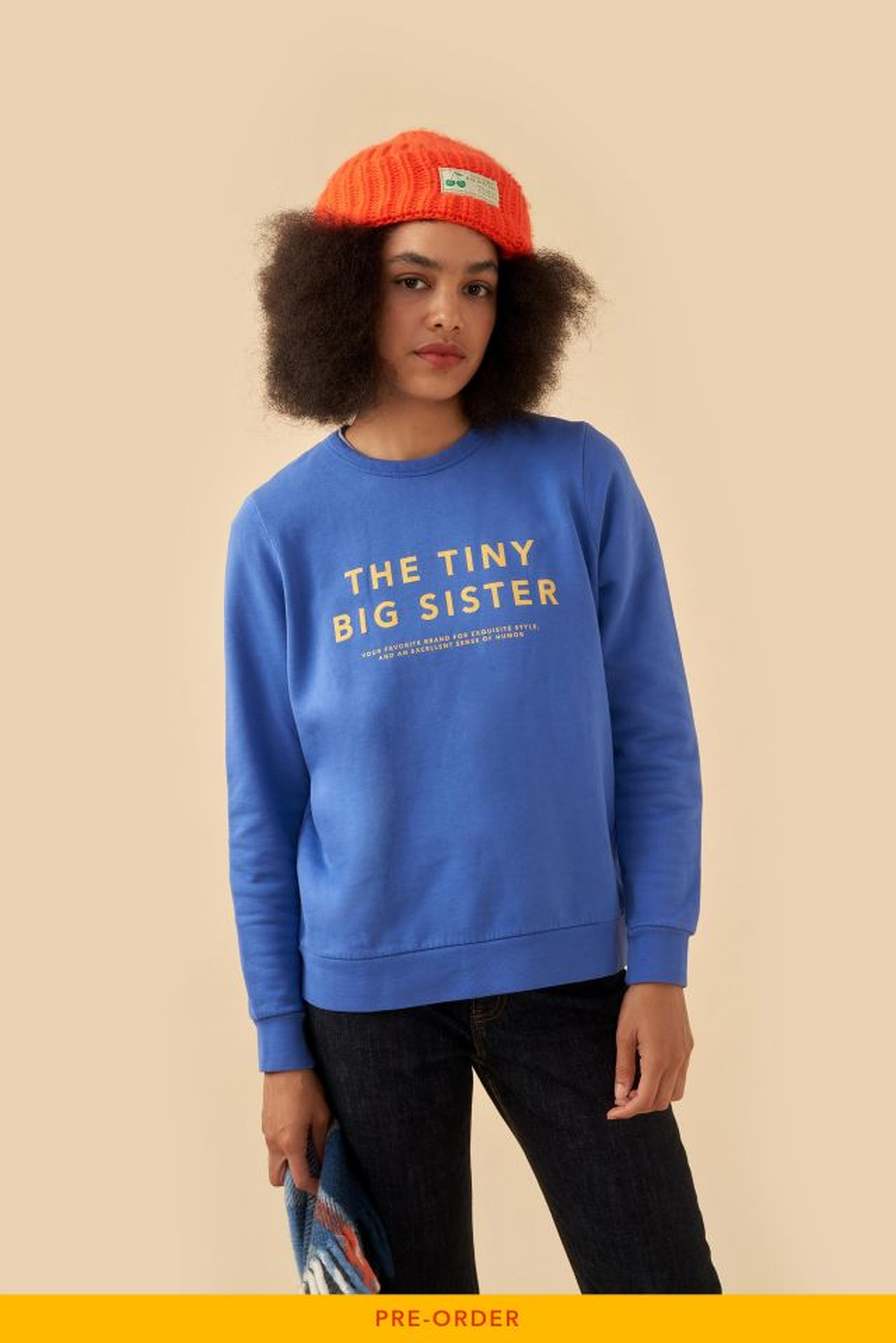 WOMAN THE TINY BIG SISTER SWEATSHIRT