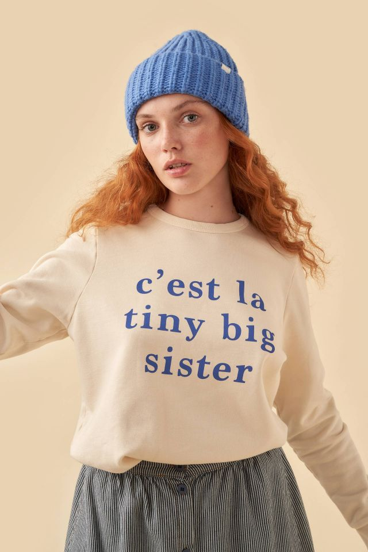 WOMAN C'EST LA TINY BIG SISTER SWEATSHIRT
