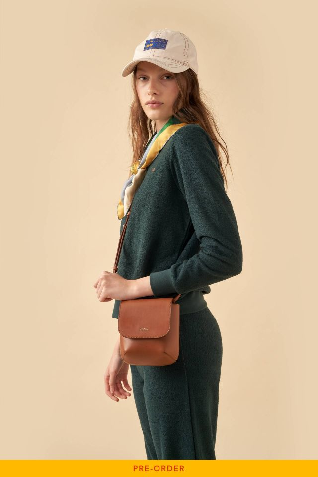 JUANA LEATHER SMALL ROUNDED BAG