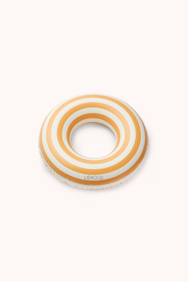 Baloo Swim Ring - Stripes yellow/creme