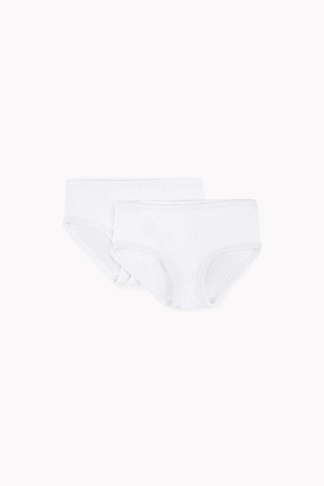 basic girl panties set of 2 white