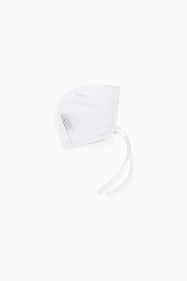 basic baby tied hat white