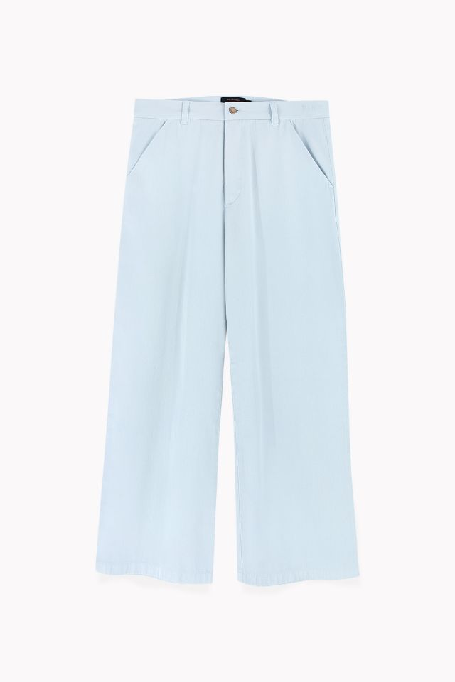 WOMAN CROPPED FLARED PANTS light denim