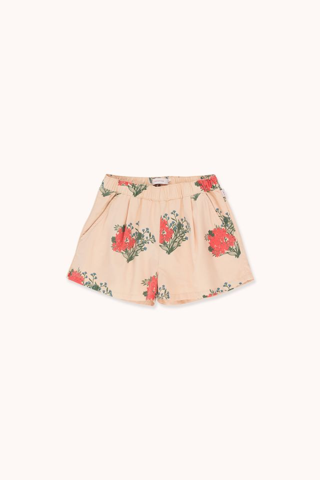 """FLOWERS"" PLEATED SHORT"