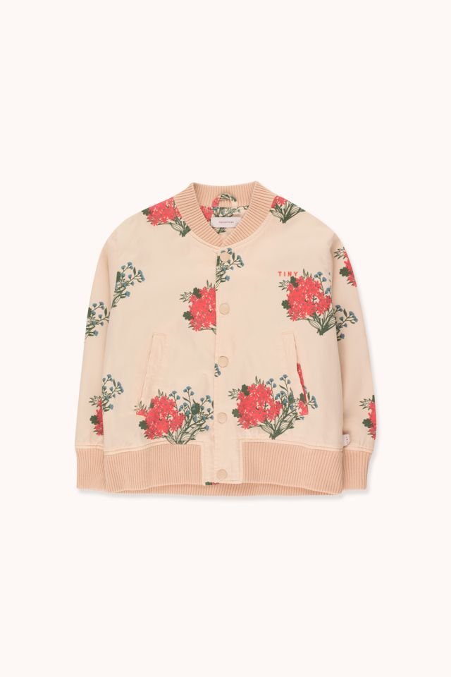 """FLOWERS"" LIGHT BOMBER JACKET"