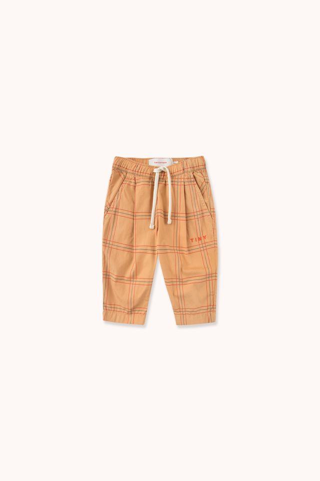 CHECK BABY PLEATED PANT