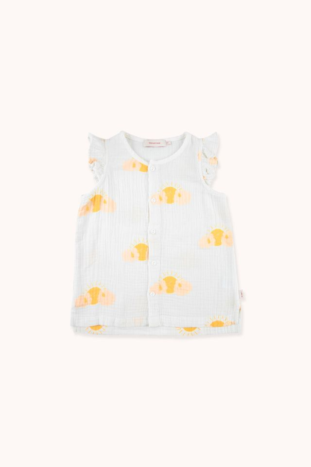 """SLEEPY SUN"" FRILLS BLOUSE"