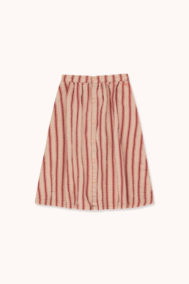 """RETRO STRIPES"" MIDI SKIRT"