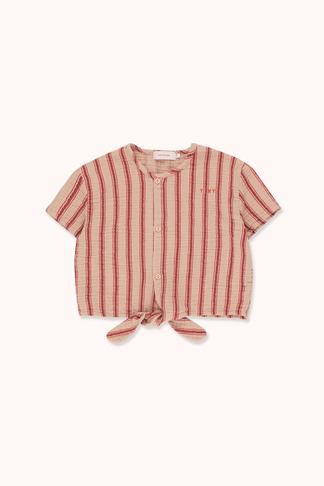 """RETRO STRIPES"" TIE FRONT TOP"