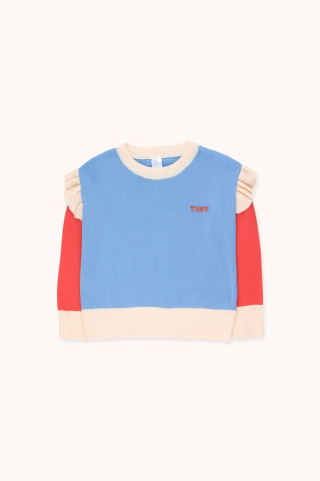 """TINY"" FRILLS CROP SWEATER"