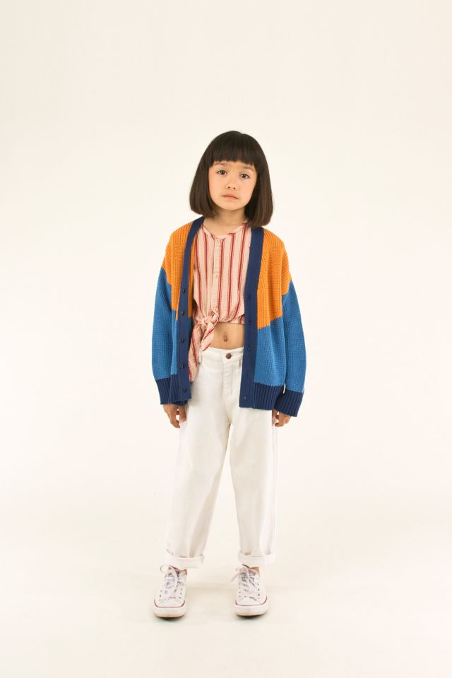 """TINY"" COLOR BLOCK CARDIGAN"