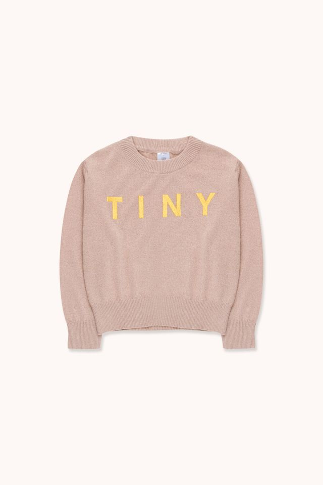 """TINY"" SHINY CROP SWEATER"