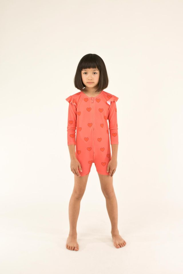 """HEARTS"" SWIM LS ONE-PIECE"