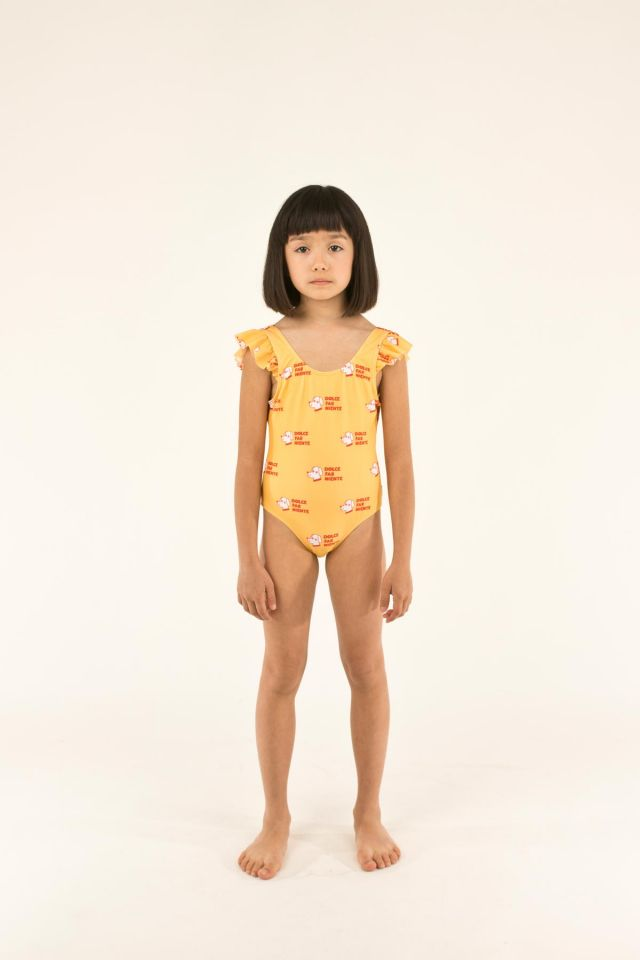 """DOGS"" FRILLS SWIMSUIT"