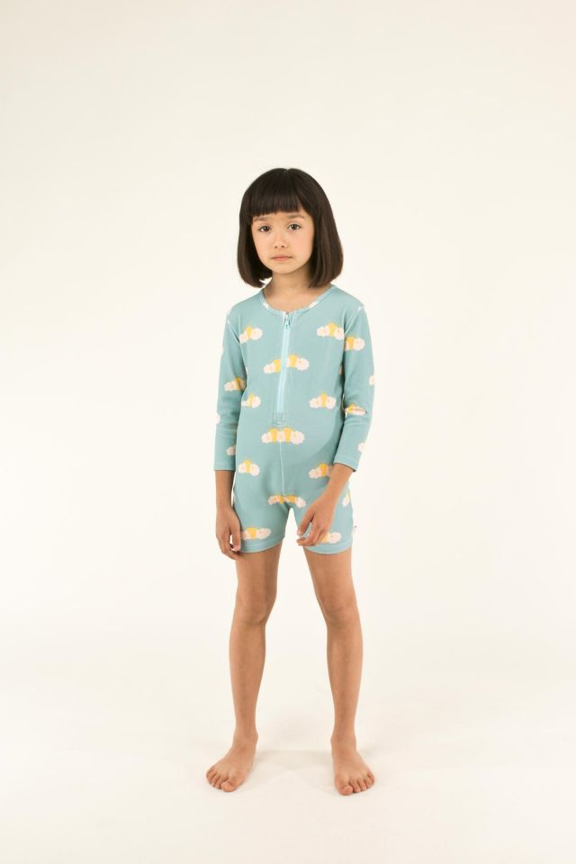 """SLEEPY SUN"" SWIM LS ONE-PIECE"