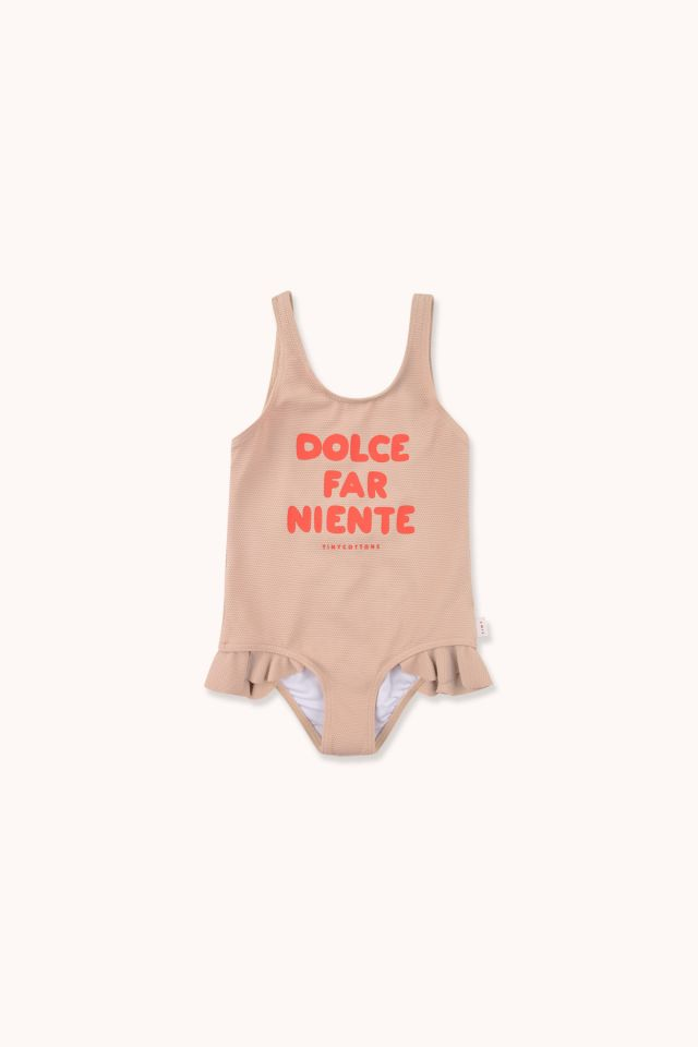 """DOLCE FAR NIENTE"" FRILLS SWIMSUIT"