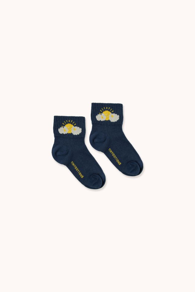 """SLEEPY SUN"" QUARTER SOCKS"