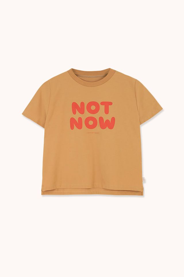 "WOMAN ""NOT NOW"" CROPPED TEE"