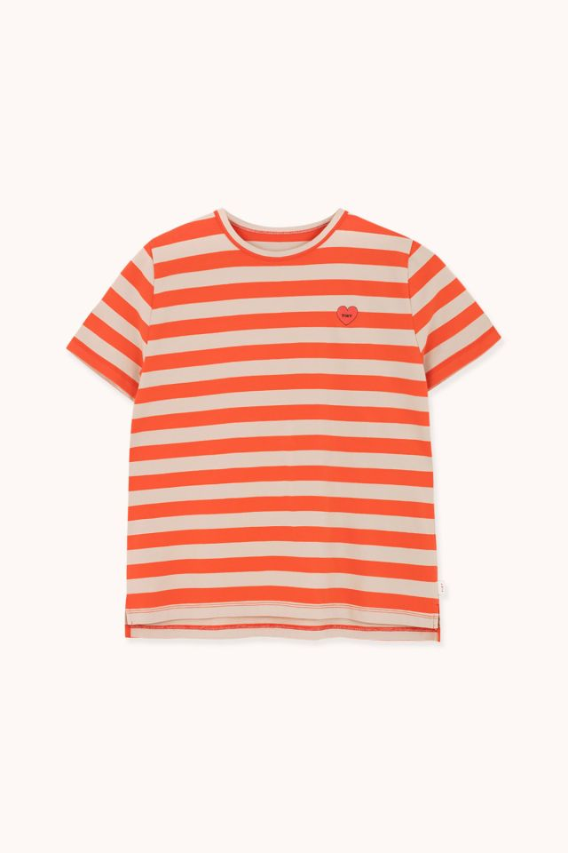 "WOMAN ""HEART"" STRIPES RELAXED TEE"
