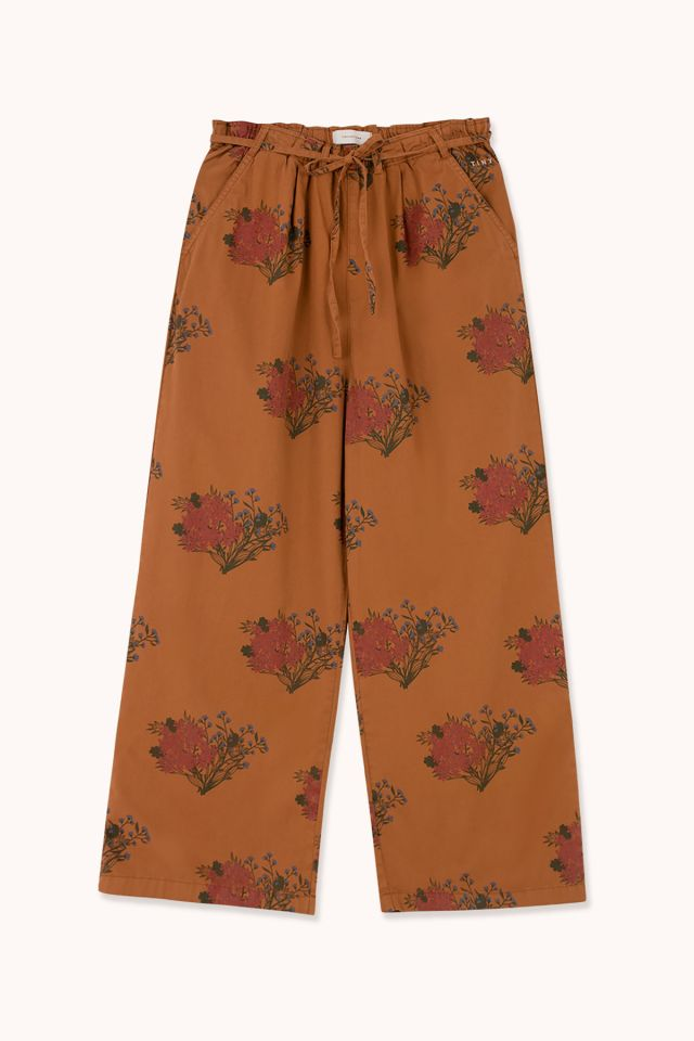"WOMAN ""FLOWERS"" WIDE PLEATED PANT"