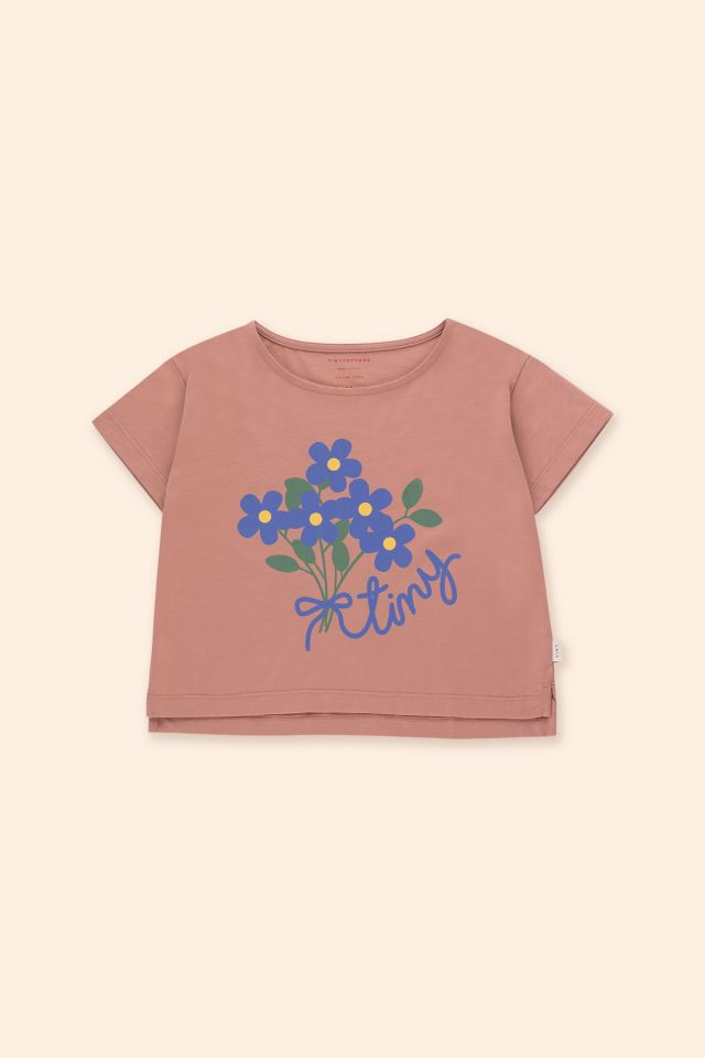 Camiseta Crop Tiny Bouquet