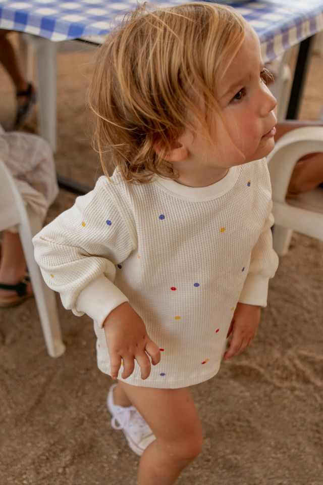 ICE CREAM DOTS BABY SWEATSHIRT