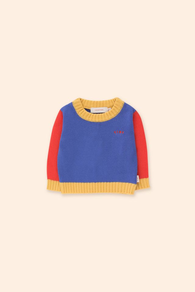 TINY COLOR BLOCK BABY SWEATER
