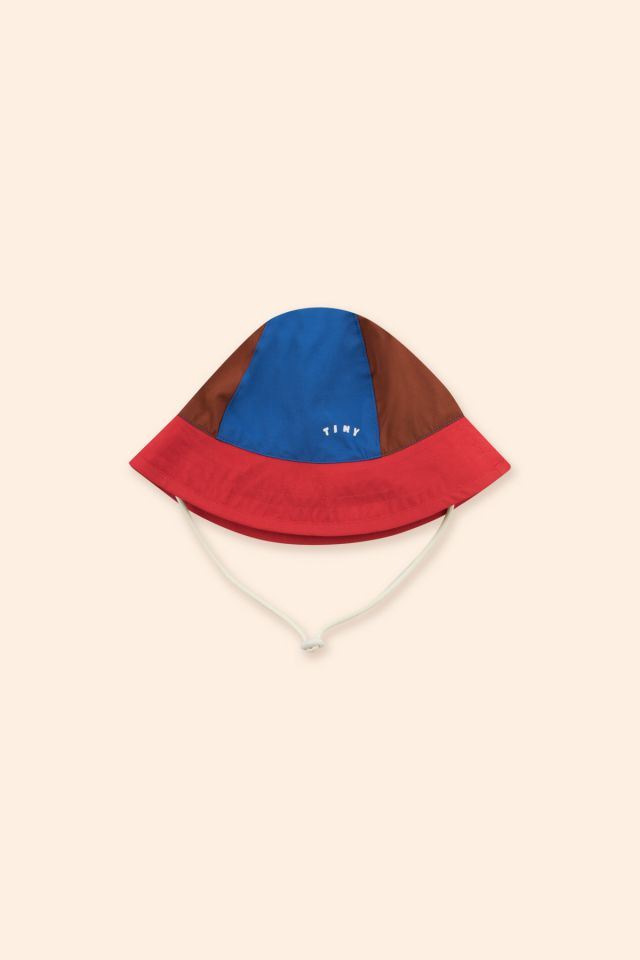 TINY COLOR BLOCK BUCKET HAT