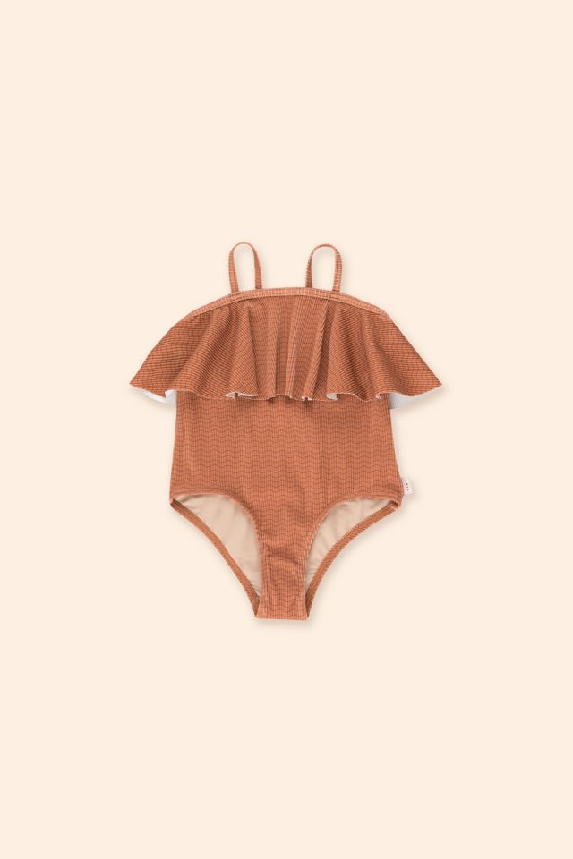 WAVES STRAPS SWIMSUIT