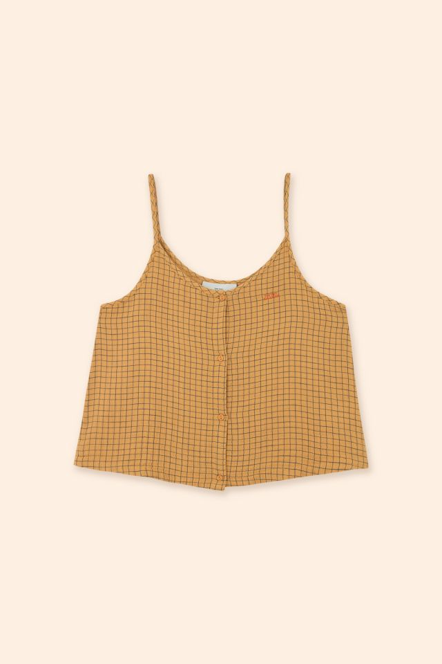WOMAN DOUBLE GAUZE GRID TANK TOP