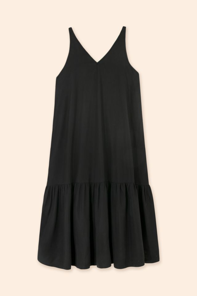 WOMAN LYOCELL RUFFLE DRESS
