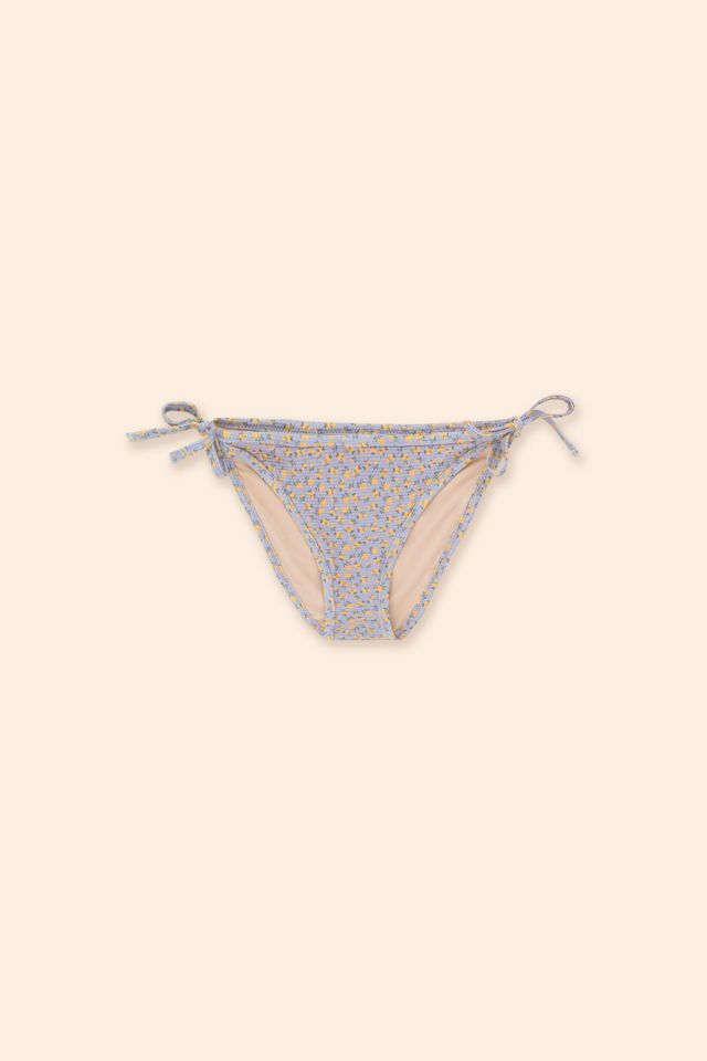 WOMAN TEXTURED FLOWERS BIKINI BOTTOM